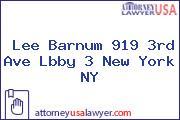 Lee Barnum 919 3rd Ave Lbby 3 New York NY