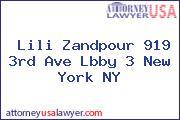 Lili Zandpour 919 3rd Ave Lbby 3 New York NY