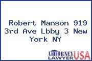 Robert Manson 919 3rd Ave Lbby 3 New York NY