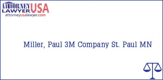 Telephone, Address and other contact data of Miller, Paul, St. Paul, MN, USA