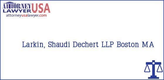 Telephone, Address and other contact data of Larkin, Shaudi, Boston, MA, USA
