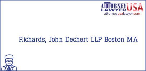 Telephone, Address and other contact data of Richards, John, Boston, MA, USA