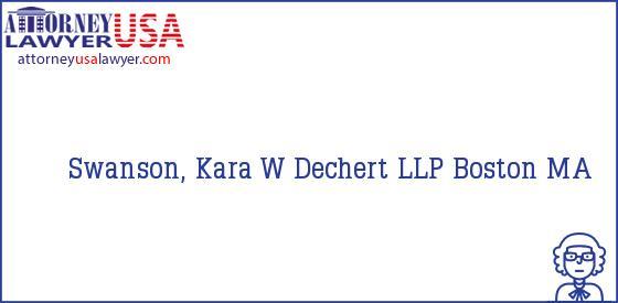 Telephone, Address and other contact data of Swanson, Kara W, Boston, MA, USA