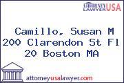 Camillo, Susan M 200 Clarendon St Fl 20 Boston MA