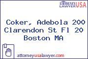 Coker, Adebola 200 Clarendon St Fl 20 Boston MA