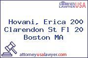 Hovani, Erica 200 Clarendon St Fl 20 Boston MA