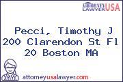 Pecci, Timothy J 200 Clarendon St Fl 20 Boston MA