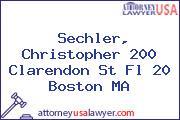 Sechler, Christopher 200 Clarendon St Fl 20 Boston MA