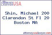 Shin, Michael 200 Clarendon St Fl 20 Boston MA