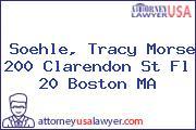 Soehle, Tracy Morse 200 Clarendon St Fl 20 Boston MA