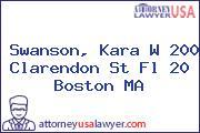 Swanson, Kara W 200 Clarendon St Fl 20 Boston MA