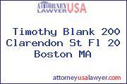Timothy Blank 200 Clarendon St Fl 20 Boston MA