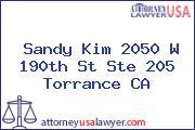 Sandy Kim 2050 W 190th St Ste 205 Torrance CA
