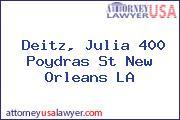Deitz, Julia 400 Poydras St New Orleans LA