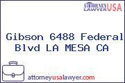 Gibson 6488 Federal Blvd LA MESA CA