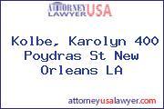 Kolbe, Karolyn 400 Poydras St New Orleans LA