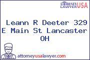 Leann R Deeter 329 E Main St Lancaster OH