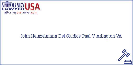 Telephone, Address and other contact data of John Heinzelmann, Arlington, VA, USA