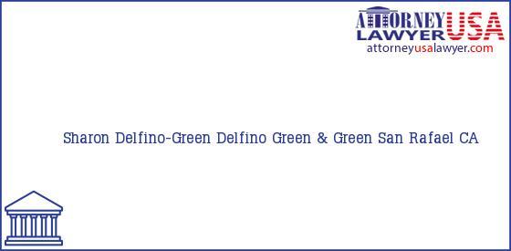 Telephone, Address and other contact data of Sharon Delfino-Green, San Rafael, CA, USA