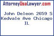 John Deleon 2659 S Kedvale Ave Chicago IL