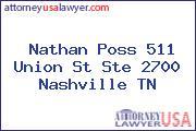 Nathan Poss 511 Union St Ste 2700 Nashville TN