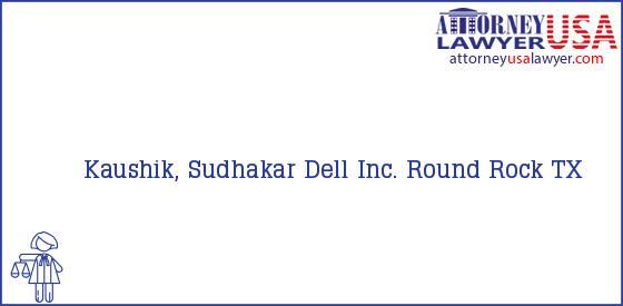 Telephone, Address and other contact data of Kaushik, Sudhakar, Round Rock, TX, USA