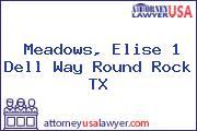 Meadows, Elise 1 Dell Way Round Rock TX