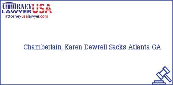 Telephone, Address and other contact data of Chamberlain, Karen, Atlanta, GA, USA