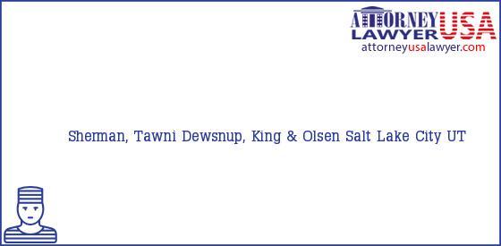 Telephone, Address and other contact data of Sherman, Tawni, Salt Lake City, UT, USA
