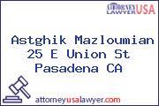 Astghik Mazloumian 25 E Union St Pasadena CA