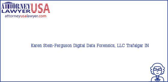 Telephone, Address and other contact data of Karen Stein-Ferguson, Trafalgar, IN, USA
