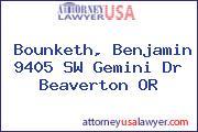 Bounketh, Benjamin 9405 SW Gemini Dr Beaverton OR