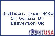 Calhoon, Sean 9405 SW Gemini Dr Beaverton OR