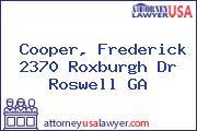 Cooper, Frederick 2370 Roxburgh Dr Roswell GA