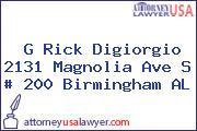 G Rick Digiorgio 2131 Magnolia Ave S # 200 Birmingham AL