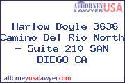 Harlow Boyle 3636 Camino Del Rio North - Suite 210 SAN DIEGO CA