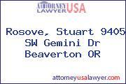 Rosove, Stuart 9405 SW Gemini Dr Beaverton OR
