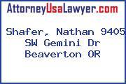Shafer, Nathan 9405 SW Gemini Dr Beaverton OR