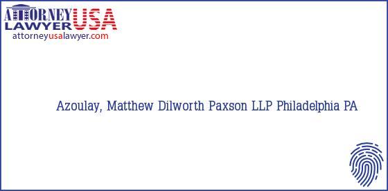 Telephone, Address and other contact data of Azoulay, Matthew, Philadelphia, PA, USA