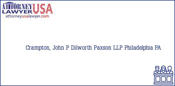 Telephone, Address and other contact data of Crampton, John P, Philadelphia, PA, USA