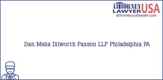 Telephone, Address and other contact data of Dan Melia, Philadelphia, PA, USA