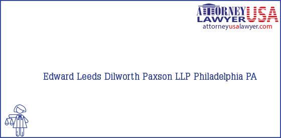 Telephone, Address and other contact data of Edward Leeds, Philadelphia, PA, USA