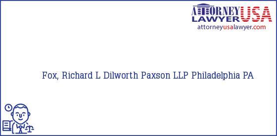 Telephone, Address and other contact data of Fox, Richard L, Philadelphia, PA, USA