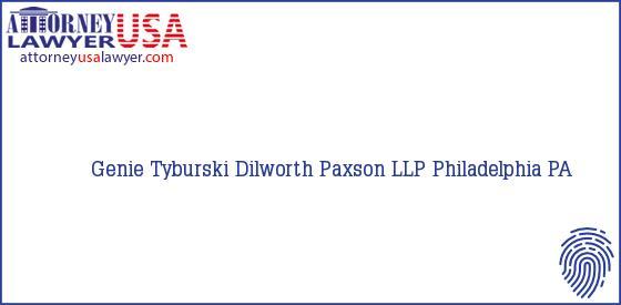 Telephone, Address and other contact data of Genie Tyburski, Philadelphia, PA, USA