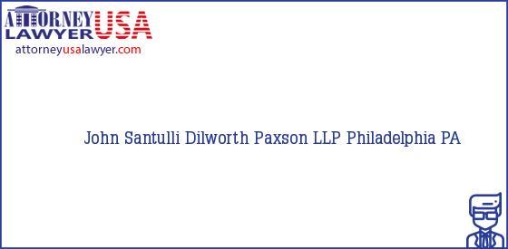 Telephone, Address and other contact data of John Santulli, Philadelphia, PA, USA