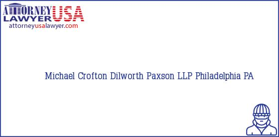 Telephone, Address and other contact data of Michael Crofton, Philadelphia, PA, USA