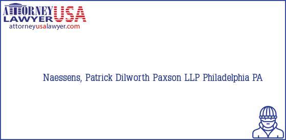 Telephone, Address and other contact data of Naessens, Patrick, Philadelphia, PA, USA