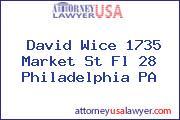 David Wice 1735 Market St Fl 28 Philadelphia PA