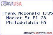 Frank McDonald 1735 Market St Fl 28 Philadelphia PA