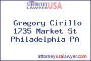 Gregory Cirillo 1735 Market St Philadelphia PA